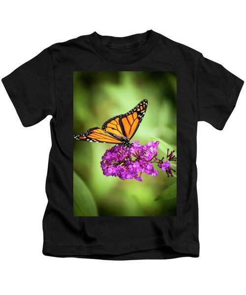 Monarch Moth On Buddleias Kids T-Shirt