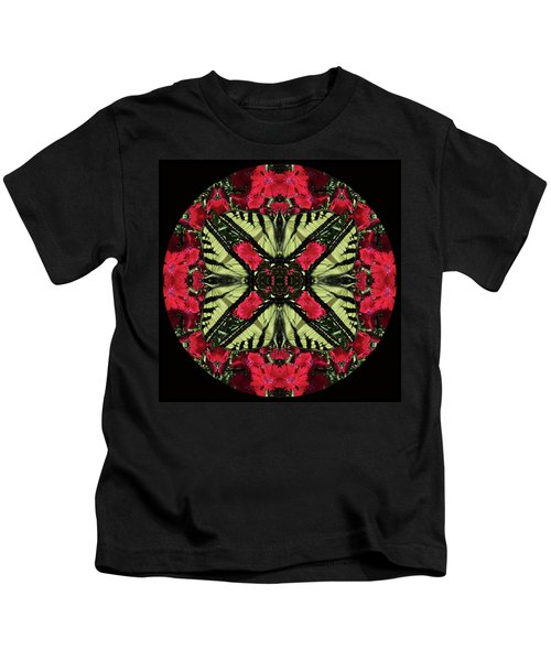 Monarch On Dianthus Kaleidoscope Kids T-Shirt