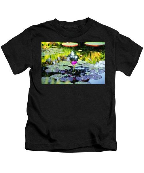 Monet Lilies Kids T-Shirt
