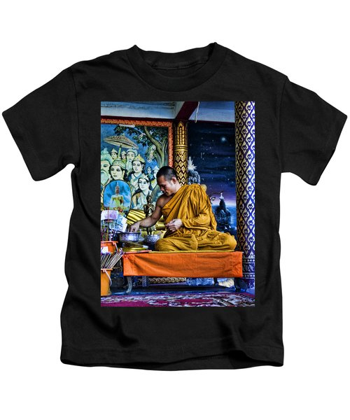 Monk At Big Buddha  Kids T-Shirt