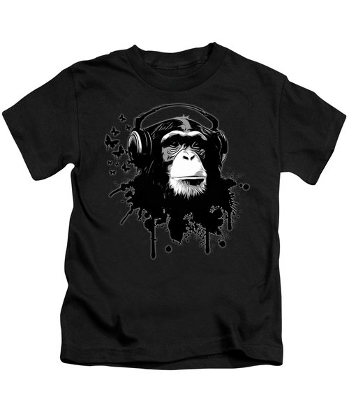Monkey Business - Black Kids T-Shirt by Nicklas Gustafsson