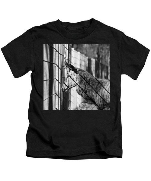 #monochrome #canon #cage #blackandwhite Kids T-Shirt