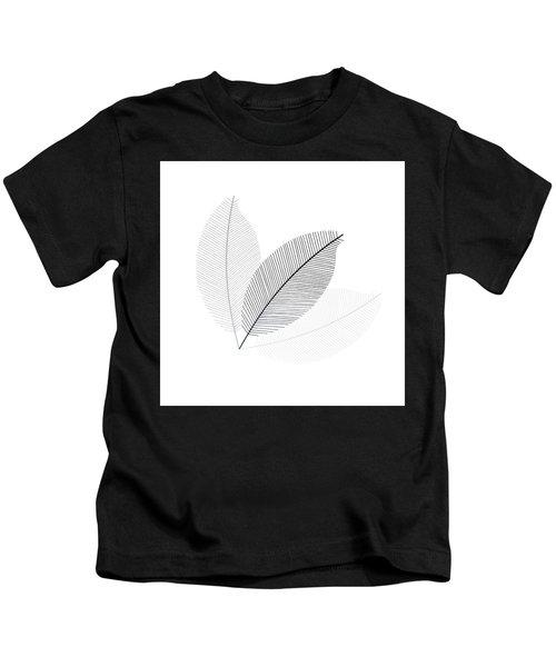 Monochrome Leaves Kids T-Shirt
