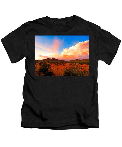 Monsoon Storm Sunset Kids T-Shirt