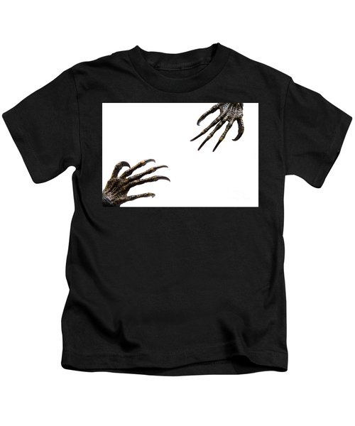 Monster Try To Grab Their Hand Together Kids T-Shirt