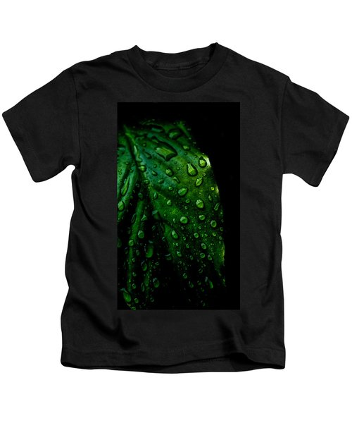 Moody Raindrops Kids T-Shirt