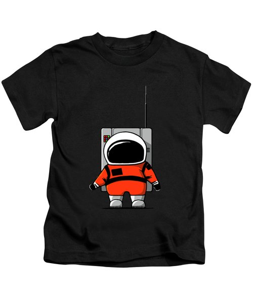 Moon Man Kids T-Shirt by Nicholas Ely