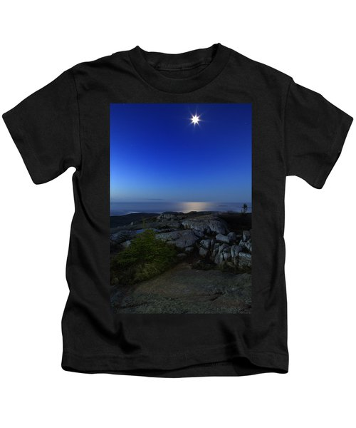 Moon Over Cadillac Kids T-Shirt
