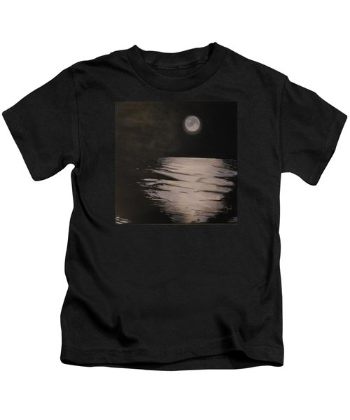Moon Over The Wedge Kids T-Shirt