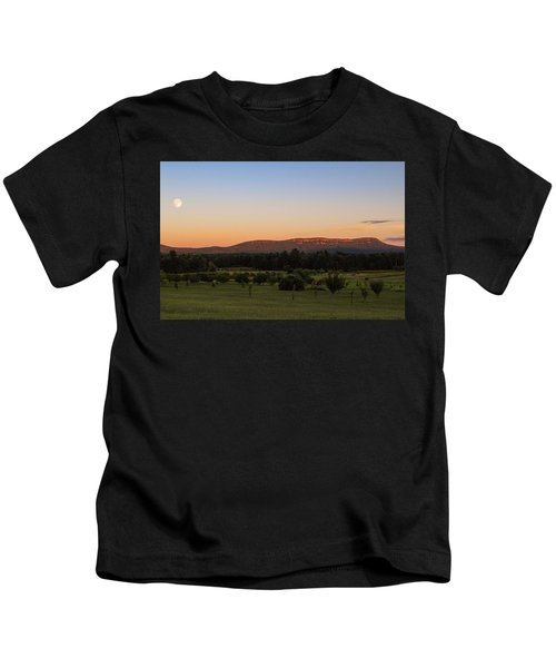 Moon Over Mount Tom Kids T-Shirt