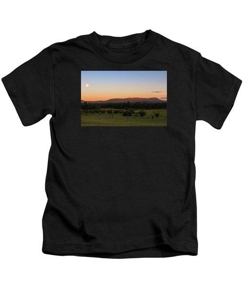 Moon Over Mount Tom Kids T-Shirt