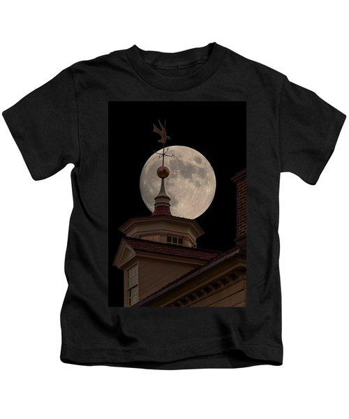 Moon Over Mount Vernon Kids T-Shirt