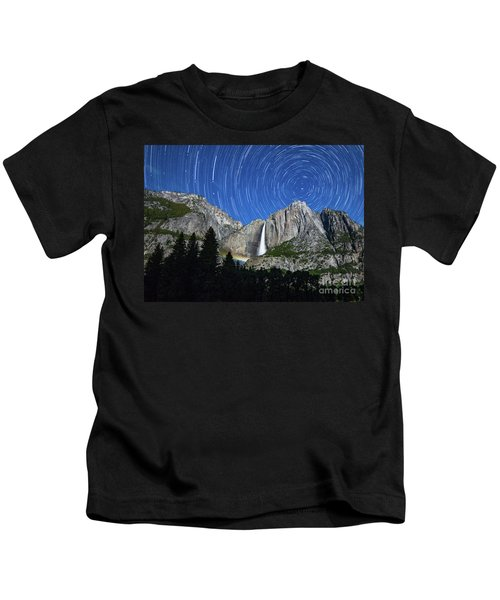 Moonbow And Startrails  Kids T-Shirt