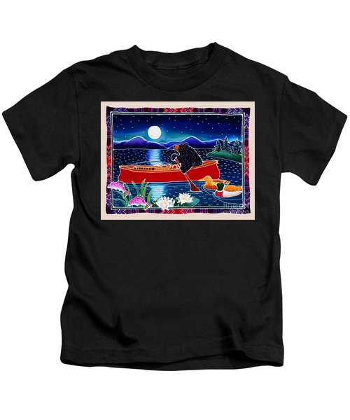 Moonlight On A Red Canoe Kids T-Shirt