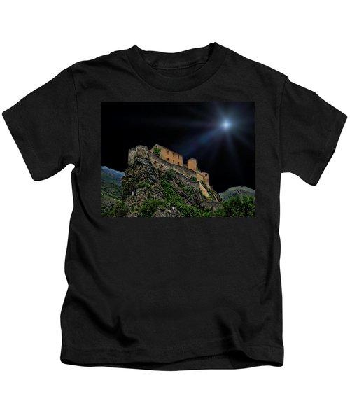 Moonlit Castle Kids T-Shirt