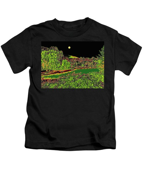 Moonlit Kaloya Park Kids T-Shirt