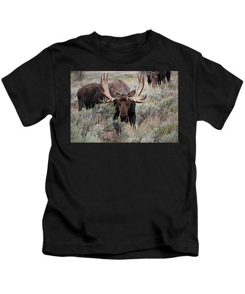 Moose In The Sage Kids T-Shirt