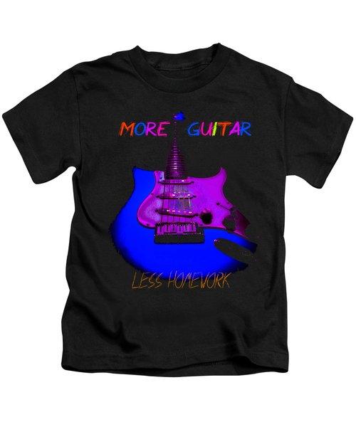 More Guitar Less Homework Kids T-Shirt