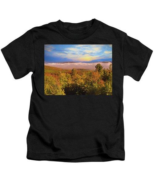 Morning Autumn Landscape Northern New Hampshire Kids T-Shirt
