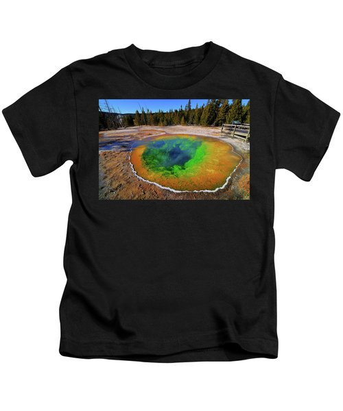 Morning Glory Pool Kids T-Shirt
