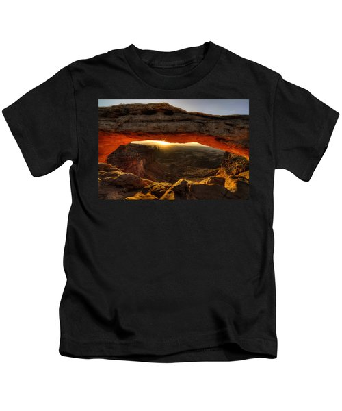 Morning Glow At Mesa Arch Kids T-Shirt