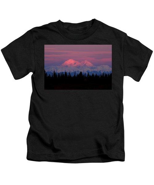 Morning Light On Denali Kids T-Shirt