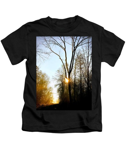 Morning Mood In The Forest Kids T-Shirt
