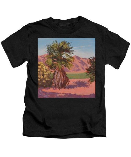 Morning Palm Tree - Art By Bill Tomsa Kids T-Shirt