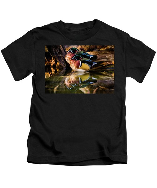 Morning Reflections - Wood Ducks Kids T-Shirt