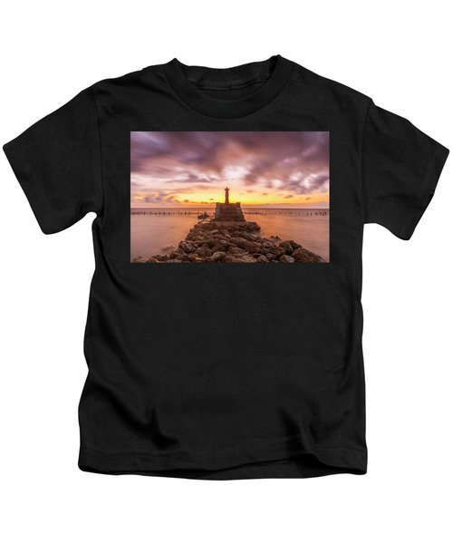 Morning Scene In Nusa Penida Beach Kids T-Shirt