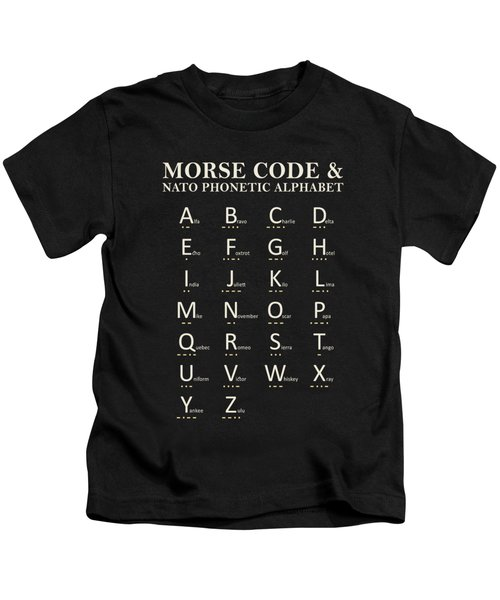 Morse Code And Phonetic Alphabet Kids T-Shirt