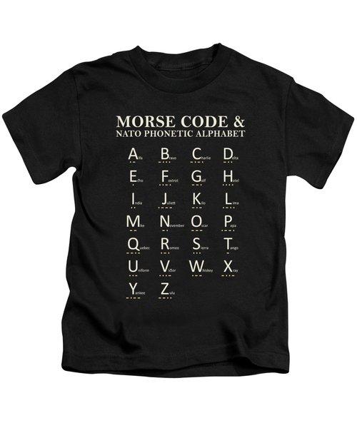 Morse Code And Phonetic Alphabet Kids T-Shirt