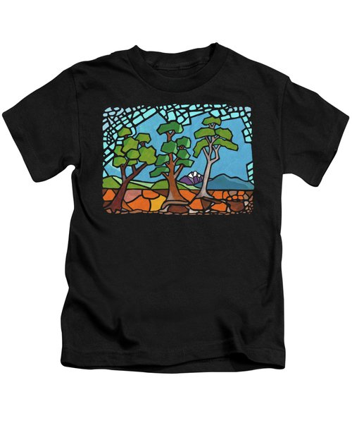 Mosaic Trees Kids T-Shirt by Anthony Mwangi