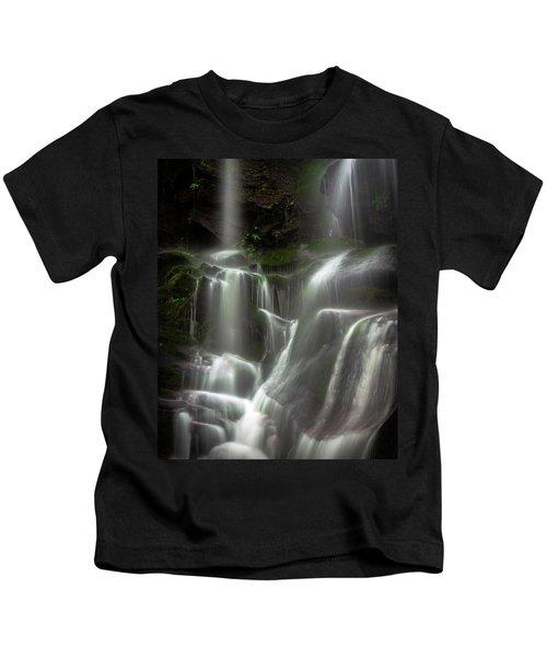 Mossy Waterfall Kids T-Shirt