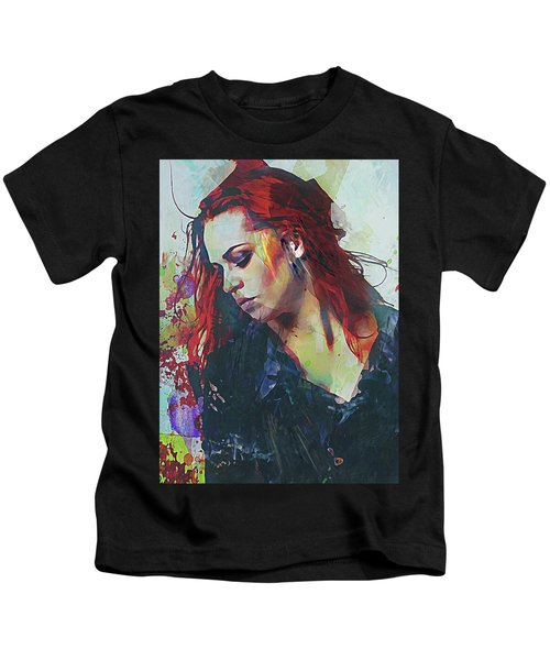 Mostly- Abstract Portrait Kids T-Shirt