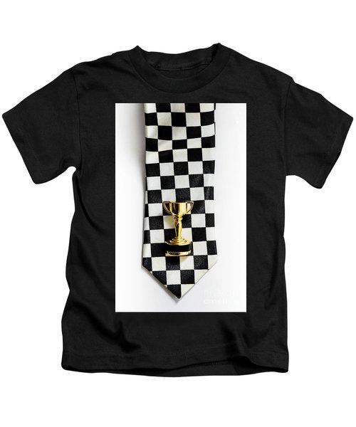 Motor Sport Racing Tie And Trophy Kids T-Shirt