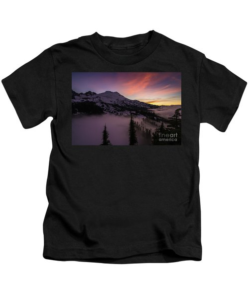 Mount Baker Sunrise Peaceful Morning Kids T-Shirt
