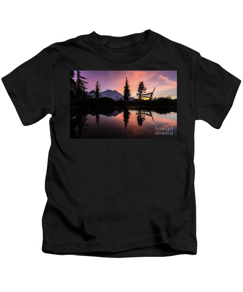 Mount Baker Sunrise Reflection Kids T-Shirt