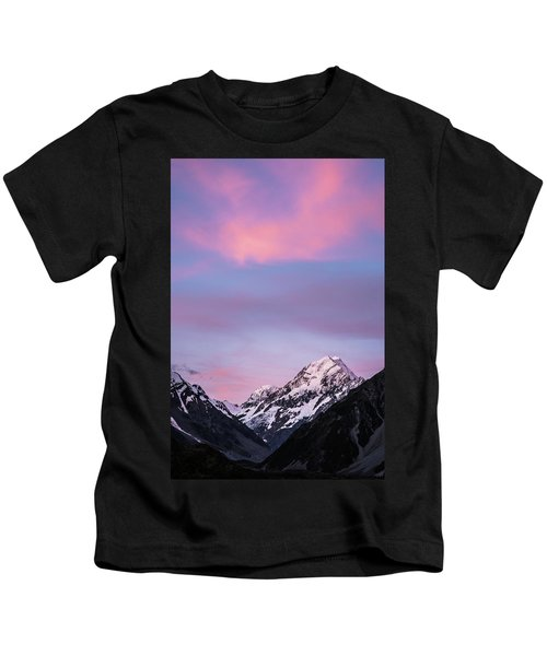 Mount Cook Sunset Kids T-Shirt