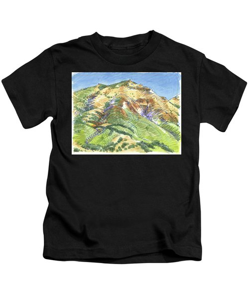 Mount Diablo From Curry Valley Ridge Kids T-Shirt