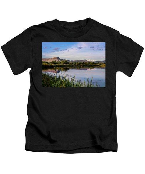 Mount Garfield In The Evening Light Kids T-Shirt