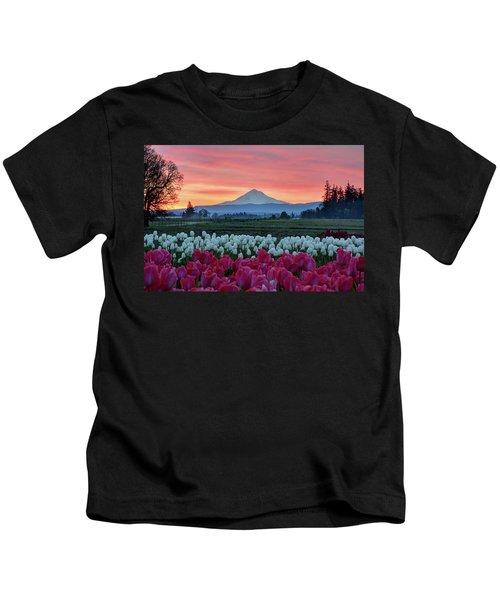 Mount Hood Sunrise Kids T-Shirt