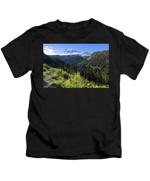 Mount Rainier From Scenic Viewpoint Kids T-Shirt