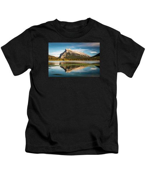 Mount Rundle Banff Kids T-Shirt