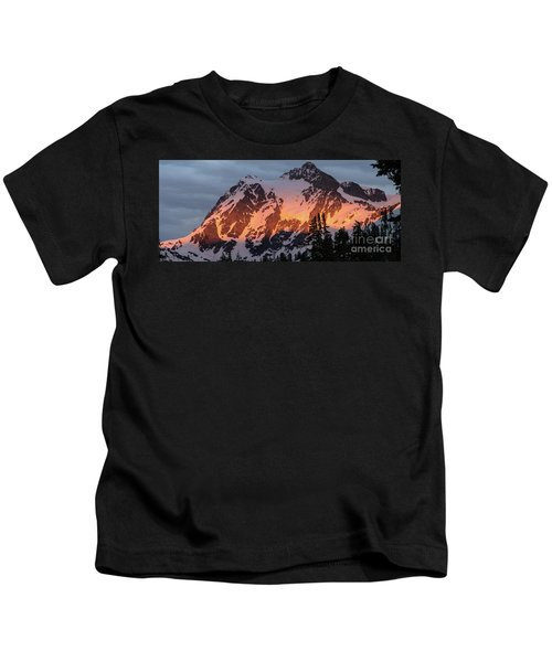 Mount Shuksan Brilliant Alpenglow Kids T-Shirt