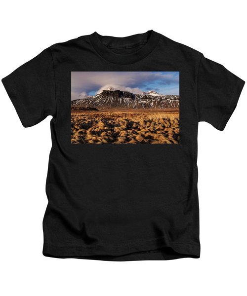 Mountain And Land, Iceland Kids T-Shirt