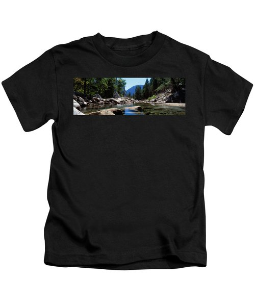 Mountain Behind Pine Trees, Tenaya Kids T-Shirt