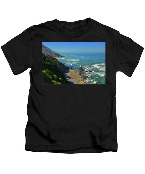 Mountains Meet The Sea Kids T-Shirt