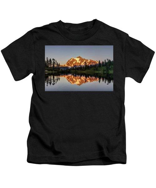 Mt Shuksan Reflection Kids T-Shirt
