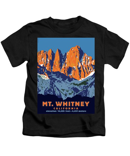 Mt. Whitney Sunrise Colors Kids T-Shirt